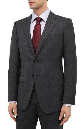 Мужской шерстяной костюм TOM FORD темно-серого цвета, арт. 811R36/21YA4C | Фото 2
