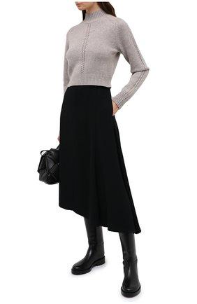 Женский кашемировый свитер LE KASHA светло-коричневого цвета, арт. MILAN00 | Фото 2
