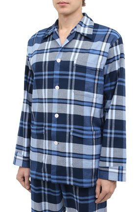 Мужская хлопковая пижама DEREK ROSE темно-синего цвета, арт. 5000-KELB012 | Фото 2