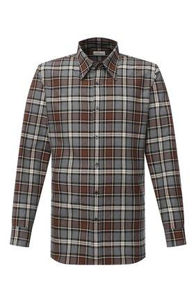 Мужская хлопковая рубашка DRIES VAN NOTEN разноцветного цвета, арт. 202-20702-1166 | Фото 1