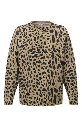 Мужской свитер из шерсти и кашемира DRIES VAN NOTEN светло-коричневого цвета, арт. 202-21246-1705 | Фото 1