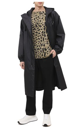 Мужской свитер из шерсти и кашемира DRIES VAN NOTEN светло-коричневого цвета, арт. 202-21246-1705 | Фото 2