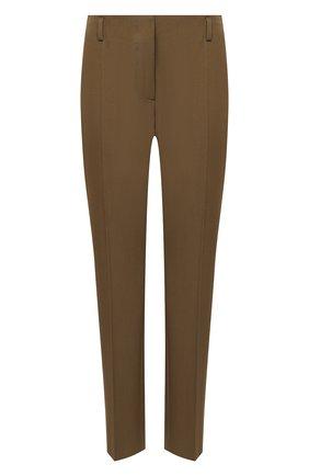 Женские шерстяные брюки DRIES VAN NOTEN хаки цвета, арт. 202-10908-1031 | Фото 1