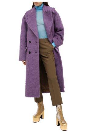 Женские шерстяные брюки DRIES VAN NOTEN хаки цвета, арт. 202-10908-1031 | Фото 2