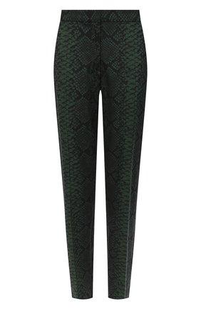 Женские шерстяные брюки DRIES VAN NOTEN зеленого цвета, арт. 202-10967-1080 | Фото 1