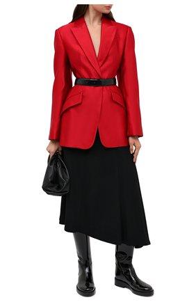 Женский шелковый жакет ALEXANDER MCQUEEN красного цвета, арт. 636289/QBAAW | Фото 2