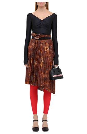 Женские леггинсы BALENCIAGA красного цвета, арт. 642325/TEK90 | Фото 2