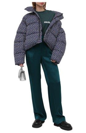 Женский утепленная куртка BALENCIAGA синего цвета, арт. 642227/TJLP5 | Фото 2