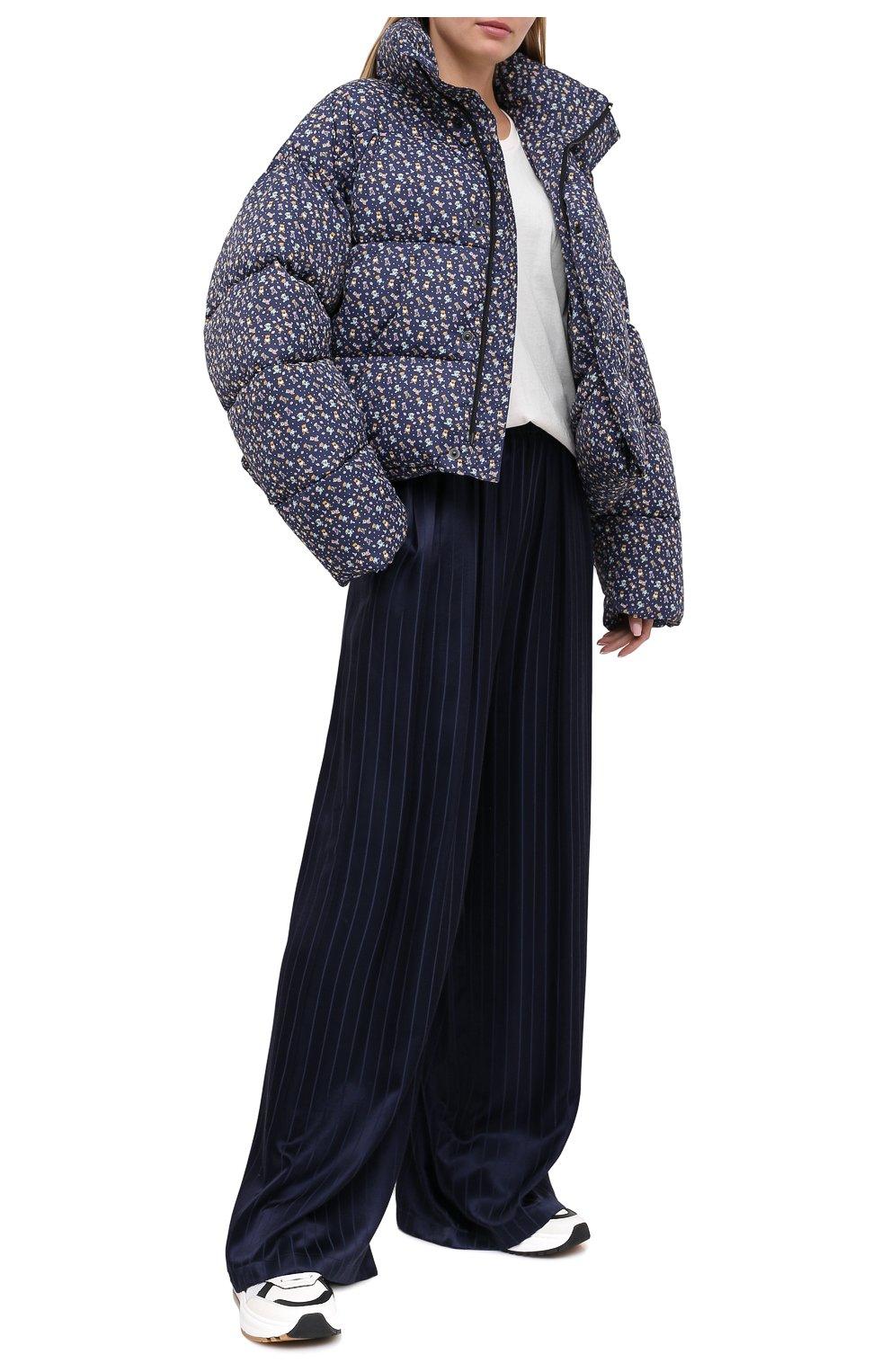 Женский утепленная куртка BALENCIAGA синего цвета, арт. 642227/TJLP5 | Фото 3