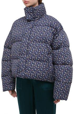 Женский утепленная куртка BALENCIAGA синего цвета, арт. 642227/TJLP5 | Фото 4