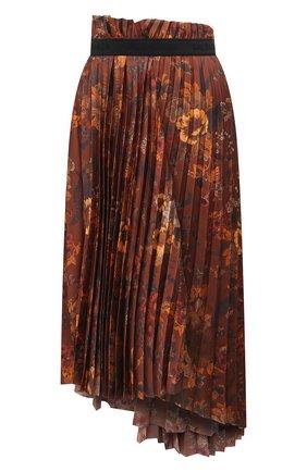 Женская юбка BALENCIAGA коричневого цвета, арт. 529757/TJL62   Фото 1