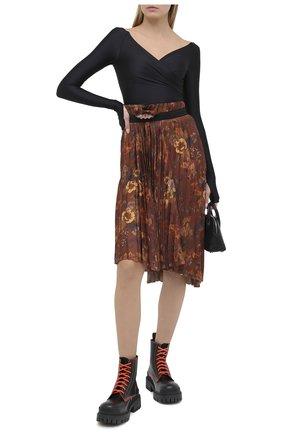 Женская юбка BALENCIAGA коричневого цвета, арт. 529757/TJL62   Фото 2