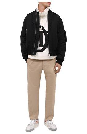 Мужские кожаные кеды SANTONI белого цвета, арт. MBAL21376GCPGMS0I55 | Фото 2