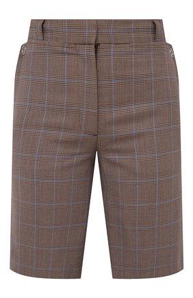 Женские шерстяные шорты BURBERRY коричневого цвета, арт. 8031218 | Фото 1