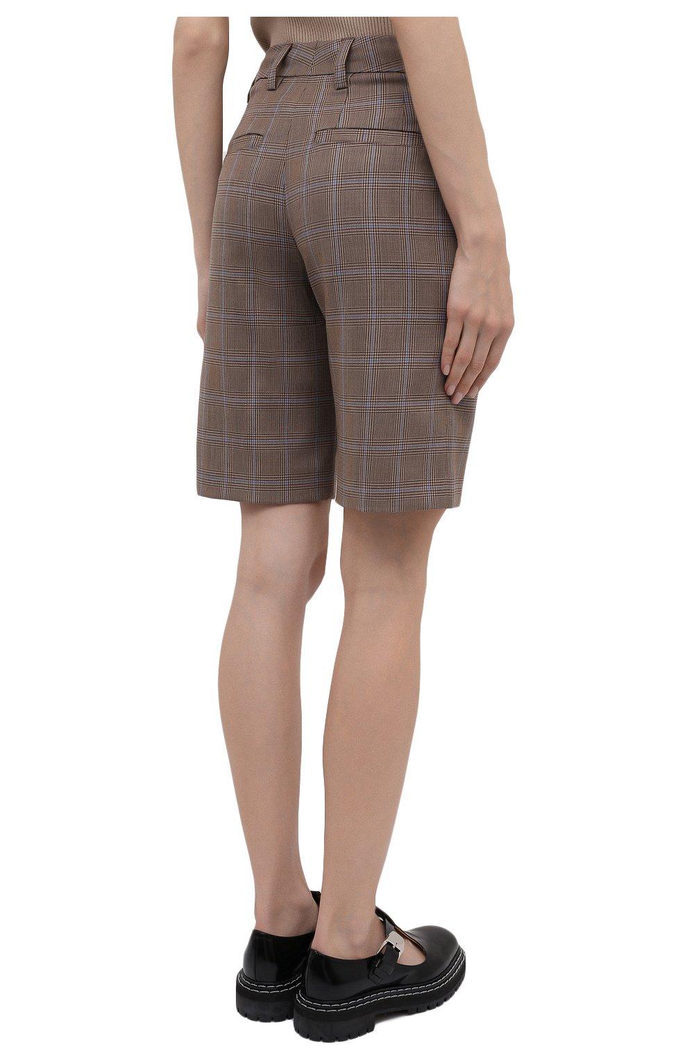 Женские шерстяные шорты BURBERRY коричневого цвета, арт. 8031218   Фото 5 (Женское Кросс-КТ: Шорты-одежда; Материал внешний: Шерсть; Длина Ж (юбки, платья, шорты): Мини; Материал подклада: Купро)