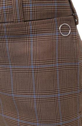 Женские шерстяные шорты BURBERRY коричневого цвета, арт. 8031218   Фото 6 (Женское Кросс-КТ: Шорты-одежда; Материал внешний: Шерсть; Длина Ж (юбки, платья, шорты): Мини; Материал подклада: Купро)