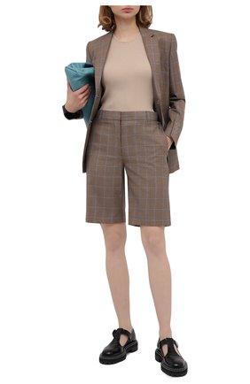 Женский шерстяной жакет BURBERRY коричневого цвета, арт. 8032392   Фото 2 (Рукава: Длинные; Материал внешний: Шерсть; Материал подклада: Купро; Длина (для топов): Стандартные; Случай: Повседневный; 1-2-бортные: Однобортные; Женское Кросс-КТ: Жакет-одежда)