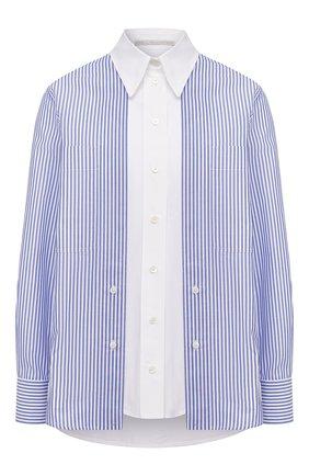 Женская хлопковая рубашка STELLA MCCARTNEY синего цвета, арт. 601604/SPA23 | Фото 1