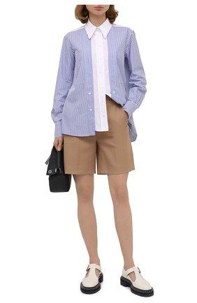 Женская хлопковая рубашка STELLA MCCARTNEY синего цвета, арт. 601604/SPA23 | Фото 2