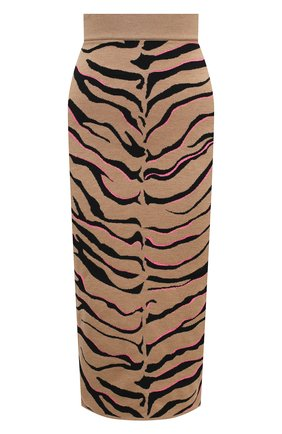 Женская юбка из шерсти и вискозы STELLA MCCARTNEY коричневого цвета, арт. 601765/S2210 | Фото 1