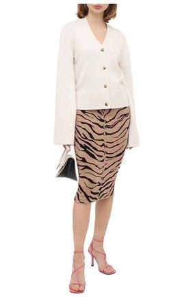 Женская юбка из шерсти и вискозы STELLA MCCARTNEY коричневого цвета, арт. 601765/S2210 | Фото 2