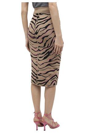 Женская юбка из шерсти и вискозы STELLA MCCARTNEY коричневого цвета, арт. 601765/S2210 | Фото 5