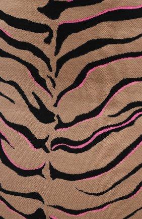 Женская юбка из шерсти и вискозы STELLA MCCARTNEY коричневого цвета, арт. 601765/S2210 | Фото 6