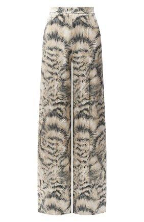 Женские шелковые брюки ESCADA бежевого цвета, арт. 5034338 | Фото 1