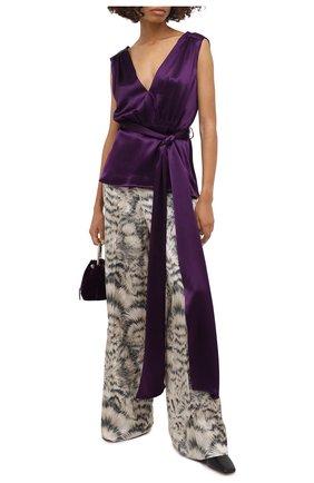 Женские шелковые брюки ESCADA бежевого цвета, арт. 5034338 | Фото 2