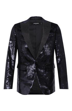 Мужской пиджак DSQUARED2 темно-синего цвета, арт. S74BN1016/S53004 | Фото 1