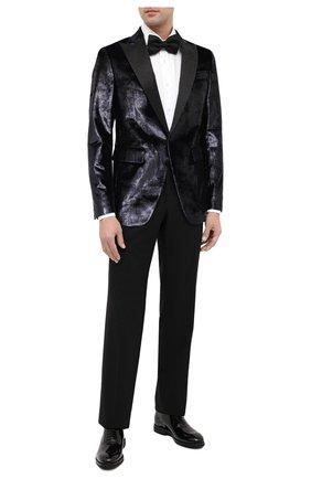 Мужской пиджак DSQUARED2 темно-синего цвета, арт. S74BN1016/S53004 | Фото 2