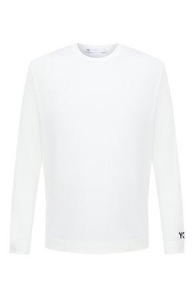Мужская хлопковый лонгслив Y-3 белого цвета, арт. GK4367/M | Фото 1