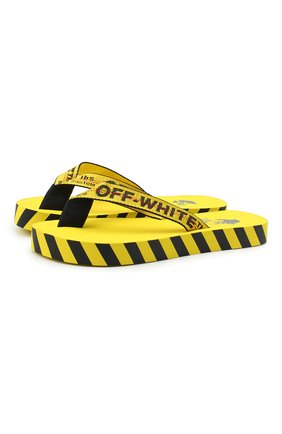 Мужские шлепанцы OFF-WHITE желтого цвета, арт. 0MIA131F20MAT0011810   Фото 1