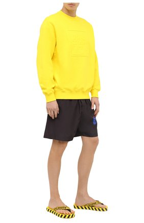 Мужские шлепанцы OFF-WHITE желтого цвета, арт. 0MIA131F20MAT0011810   Фото 2