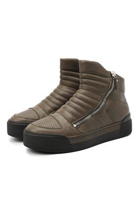 Мужские кожаные ботинки VIC MATIE хаки цвета, арт. 1Y5510U.V02C7CB465 | Фото 1