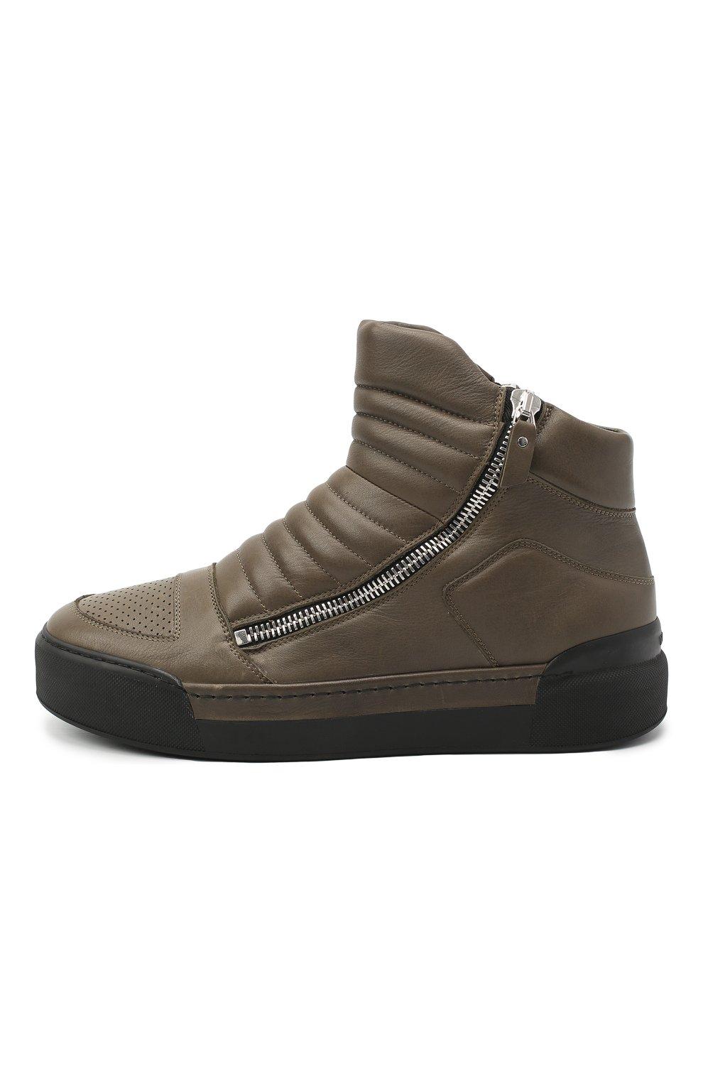 Мужские кожаные ботинки VIC MATIE хаки цвета, арт. 1Y5510U.V02C7CB465 | Фото 3