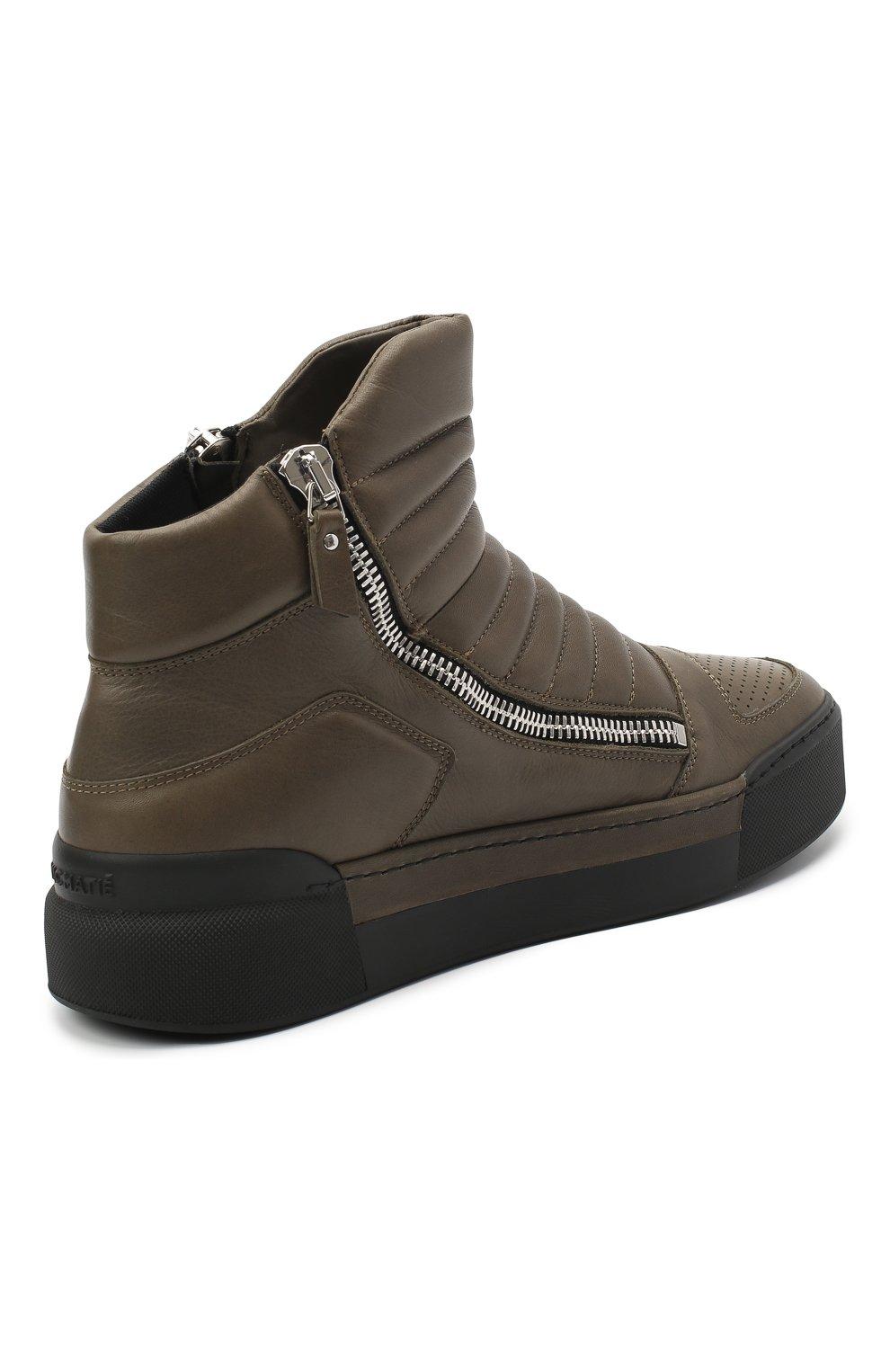 Мужские кожаные ботинки VIC MATIE хаки цвета, арт. 1Y5510U.V02C7CB465 | Фото 4