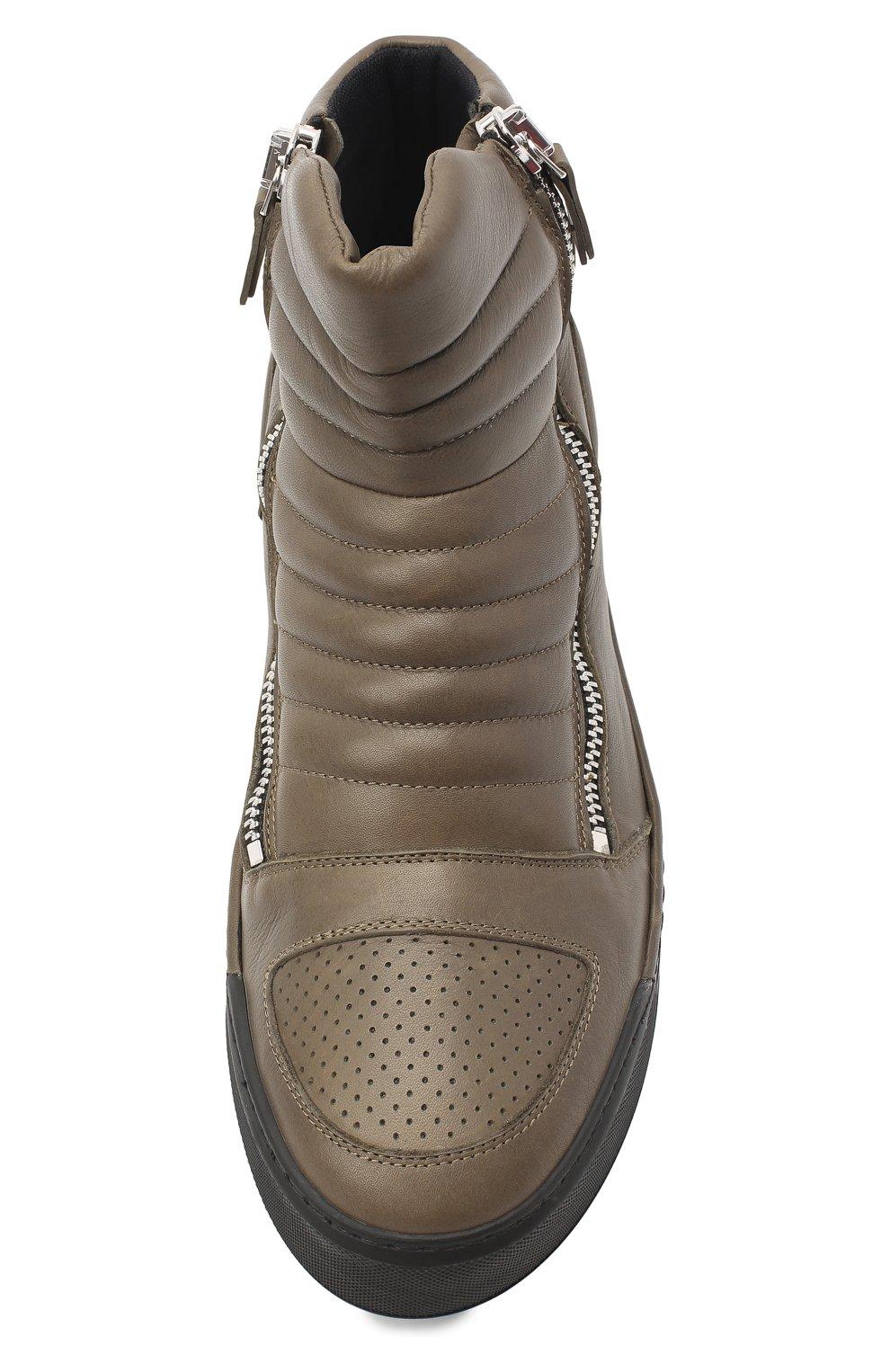 Мужские кожаные ботинки VIC MATIE хаки цвета, арт. 1Y5510U.V02C7CB465 | Фото 5