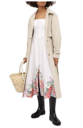 Женское льняное платье ZIMMERMANN светло-бежевого цвета, арт. 8391DBTD | Фото 2