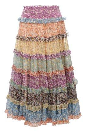 Женская шелковая юбка ZIMMERMANN разноцветного цвета, арт. 8811SCAR | Фото 1