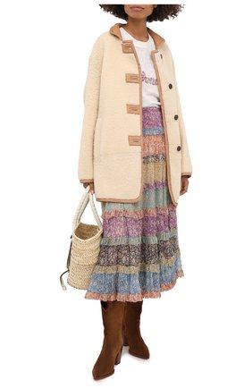 Женская шелковая юбка ZIMMERMANN разноцветного цвета, арт. 8811SCAR | Фото 2