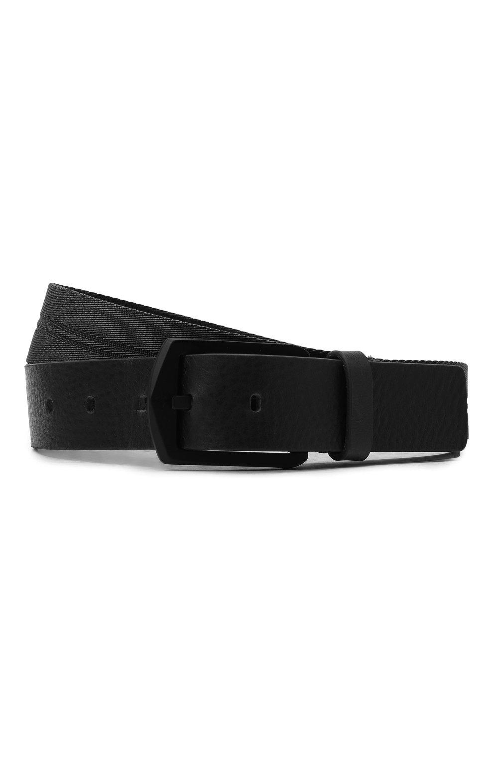 Мужской комбинированный ремень STONE ISLAND черного цвета, арт. 731594362 | Фото 1