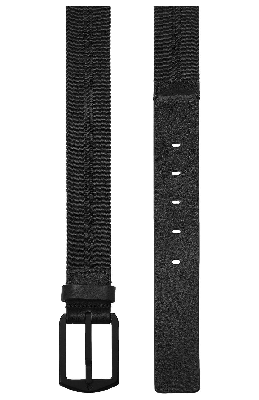 Мужской комбинированный ремень STONE ISLAND черного цвета, арт. 731594362 | Фото 2
