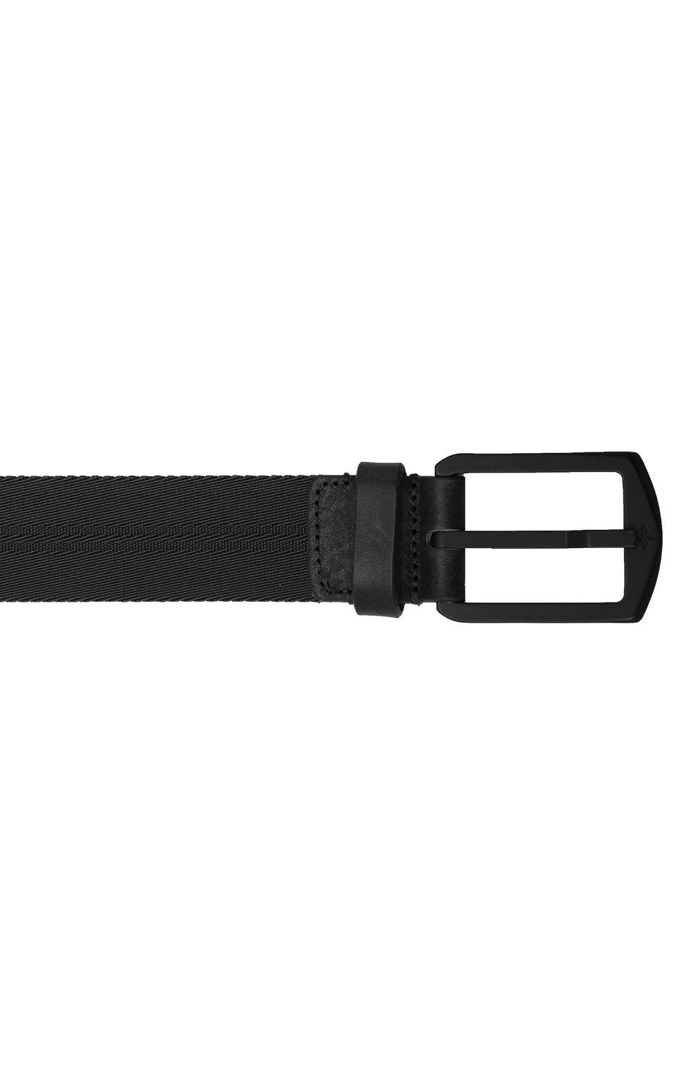 Мужской комбинированный ремень STONE ISLAND черного цвета, арт. 731594362 | Фото 3