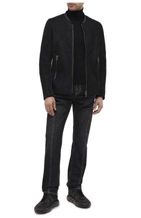 Мужская дубленка DANIELE BASTA черного цвета, арт. DB743X29X25GRCF/SEFU GRCF | Фото 2