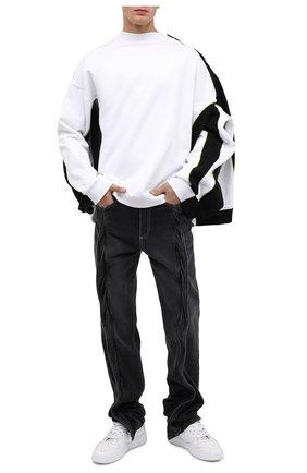 Мужской хлопковый свитшот Y/PROJECT белого цвета, арт. SWEAT25-S19 J17 | Фото 2