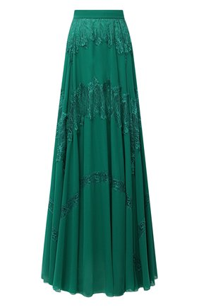 Женская юбка ZUHAIR MURAD зеленого цвета, арт. SKP20359/CHPY004   Фото 1