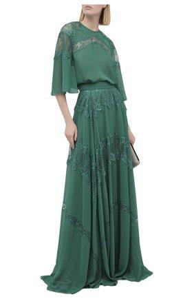 Женская юбка ZUHAIR MURAD зеленого цвета, арт. SKP20359/CHPY004   Фото 2