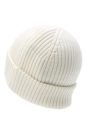 Мужская шерстяная шапка PARAJUMPERS белого цвета, арт. HA02/RIB HAT | Фото 2