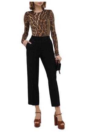 Женское боди ALEXANDRE VAUTHIER леопардового цвета, арт. 203BY904 1324-203   Фото 2